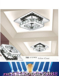 2017 montaje en el techo accesorios de iluminación 8W luz de techo de cristal empotrar montaje K9 cristal Chancelier Europeo AC110V-240V sala de estar lámpara de iluminación accesorios luces de pasillo MYY montaje en el techo accesorios de iluminación baratos