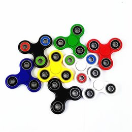 Wholesale Creative Funny Tri Spinner Fidget Toy Plastic EDC Hand Spinner For Autism and ADHD Rotation Time Long Noise Stress Toys colors