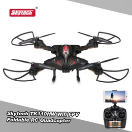 Wholesale Original Skytech TK110HW Wifi FPV P HD Camera Foldable RC Quadcopter with Flight Plan Route App Control Altitude Hold Drone RTF RM5505B