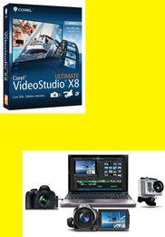 Acheter en ligne Vidéos modifier-Corel VideoStudio Pro X8 plusieurs langues 2017 nouvelle liste de vente chaude Corel VideoStudio X8 montage vidéo officiel Genuine