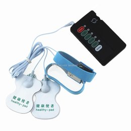Wholesale Sex Power Ring - Electro Sex Kit 2 Pcs Massager Patch & Power Box & penis rings USB Cable For Couples Adult Game Sex Products