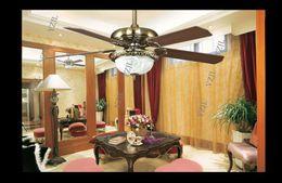 European fans ceiling retro fan light 52inch fashion luxury dining room living room modern decorative fan ceiling lights