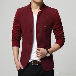 Descuento capas superiores del traje Los juegos de los remiendos de la chaqueta del Mens de la manera para los hombres Las chaquetas rojas de calidad superior adelgazan la lana apta Outwear el traje de la capa El Blazer del hombre