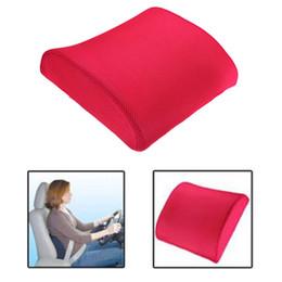 Oreillers de soutien lombaire en Ligne-Mémoire Foam Lumbar dos Support Coussin Oreiller pour Home Office Car Auto Seat Rose Car intérieur Accessoires Livraison gratuite