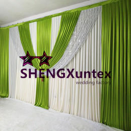 2017 New Design Wedding Backdrop Curtain \ Stage Background Include The Swag And Sequin Fabric