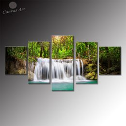Printed Canvas Art Picture Home Decor Painting Panel Landscape Waterfall Wall Art Pictures for Living Room
