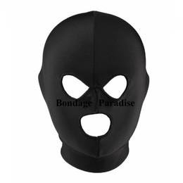 Head Gear Sex Bondage Mask Hood Spandex Mouth Open Hood Sex Products