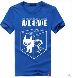 Wholesale Personalized Schrodinger s Cat T Shirt V Neck Fashion Big Bang Theory Men T Shirts Short Sleeve Men Cotton Casual Tee Shir