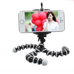 Descuento soportes de cámaras digitales Venta al por mayor- Soporte flexible de trípode de cámara digital de pulpo para accesorios de teléfono celular Soporte de visualización de pantalla de tamaño pequeño