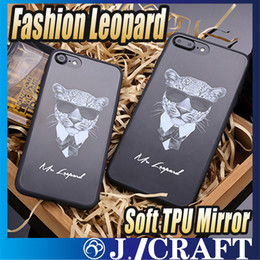Wholesale Fashion Leopard Monkey Soft TPU Mirror Phone Case Full Cover Shockproof Phone Case For iphone iphone Plus