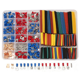 Engarzamiento de terminales eléctricos online-350 PCS / Lot terminales de crimpado 2: 1 Heat Shrink Tube Assorted Connectors Box Kit Suministros de equipos eléctricos