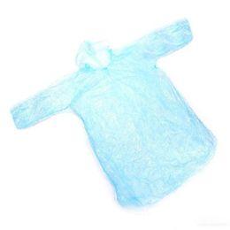 Free shipping 100pcs Disposable PE Raincoats Poncho Rainwear Travel Rain Coat Rain Wear gifts mixed colors