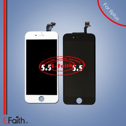 For white and black LCD Display Touch Digitizer Complete Screen with Frame Full Assembly Replacement for iPhone 6 plus