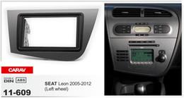 CARAV 11-609 Car Radio Fascia Panel forSEAT Leon 2005-2012 (Left wheel) Stereo Fascia Dash CD Trim Installation Kit