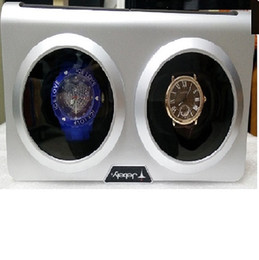 Jebely Black and Sliver Dual Twin Double Watch Winder For Winding 2 Automatic Watches