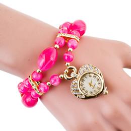 Montres de gros perle à vendre-Set tarière dames luxueuses et élégantes Han édition 2017 étudiants bracelets de perles bracelet Femme table réglée tarière mode gros-gra