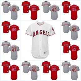 Wholesale 2017 Los Angeles Angels Jersey Andrew Bailey Kirby Yates Jesse Chavez Garrett Richards Ryan LaMarre Flexbase Onfiled Jersey
