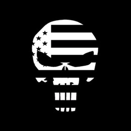 Cool Graphics Skull Punisher Usa Flag Funny Vinyl Decal Sticker Car Window Car Stying Funny Jdm 10*15cm
