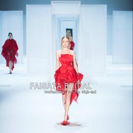 2017 damas mini vestido vestido Precioso 2017 corto rojo Celebrity vestidos organza volantes Mini Lady Sexy ver, aunque asimétrico vestidos de baile Straight Steath vestido de fiesta damas mini vestido vestido Rebaja