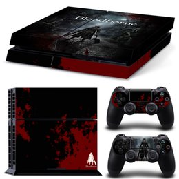 Cool Bloodborne Full Set Skin Sticker Vinyl Decals For PS4 Console + 2 PCS Controller Cover Decal Skins for Playstation 4