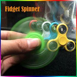Wholesale Fidget Spinner Plush Toy Plastic Handspinner Fidget Fingertips Spiral Triangle Hand Spinner EDC fidget Rollver Retail Pack