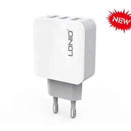 LDNIO Fast Charging Wall Charger EU Plug 3 USB 3.1A Charger Phone Adapter for iphone 5 6 7 ipad for Samsung LG