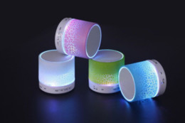 The A9 has a bright and colorful wireless portable bluetooth speaker phone with a small voice box