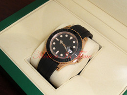 Wr s en Línea-Relojes de lujo relojes de hombre relojes de moda al por mayor Reloj de oro 40 mm de oro rosa de oro correa de caucho negro 116655 mecánico reloj automático de los hombres Wr