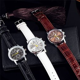 Wholesale Best Sellers Fashion Three Eyes Imitation Leather Metal Business Affairs Quartz Wrist Watch
