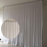 Wholesale Hot Sale m m Ice Silk Fabric High Quality White or colorful Wedding Backdrop Wedding Decoration Curtain