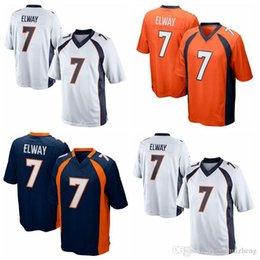 Wholesale 2016 Elite new jerseys John Elway Player Jersey Embroidery White Blue Orange jerseys Big order for DHL Cheap