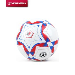 Wholesale 2017 AAA Top New Product WINMAX Football Official Size Games Soccer Ball Sport Match Training Pump White football Match Training Sports