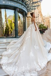 romantic princess royal train wedding dresses 2017 crystal design bridal off the shoulder wrap sweetheart neckline wedding gowns