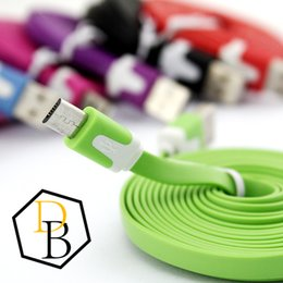 Flat Noodle cable Micro USB Cable Charging Data Line 1M 2M 3M Colorful USB Cable For Samsung Galaxy S6 Wire