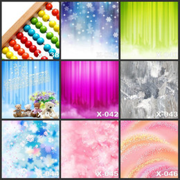 Promotion backdrops de vinyle de photographie de bébé Vente en gros Custom 125CMx150CM Pink Flowers Cartoon Peintures Vinyle Photographie Backdrops Pour Photos Baby Props studio Backdrop Camera