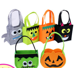Non-Woven Halloween candy bag spider bat cat patter pumpkin masquerade cosplay show party for children adult festival supplies