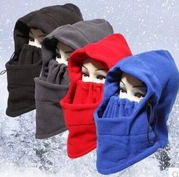 Wholesale Best sale Winter outdoor cycling face warm masked knitting hat warm hat winter cycling wind hat kinds of color