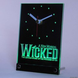 Wholesale tnc0159 Wicked The Musical Bar Beer Table Desk D LED Clock