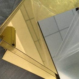 Plastic Acrylic Plexiglass Square Gold Mirrors Diameter 200x300mm Thickness 3mm Not Easy To Broken Can Cutting In To Any Size