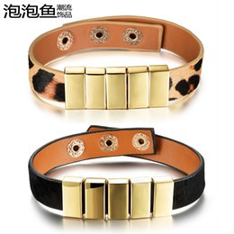 Fashion trendsetter couples men and women leather bracelets South Korea version retro minimalist personality bracelet bracelet cortex