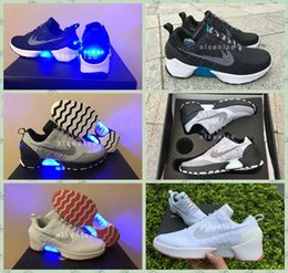 Wholesale 2016 Newest HyperAdapt Lighting Mags Mens Running Shoes Black Grey White Air Mag Back To Future Shoes Without Auto Lacing Shoes
