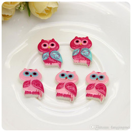 Personality type of cartoon resin accessories wholesale Big eye owl Phone beauty decoration factory direct sale