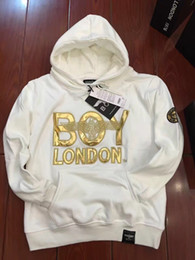 Wholesale New BOY LONDON Women Mens Pullover And Hoodies British Eagle Men Hoodies Autumn winter sweatshirt suit Black white sweater
