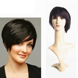 Short Lace Front Wigs Human Hair Brazilian Original Hair 6inch Straight Machine Made Lace Front Wig Angel Wave