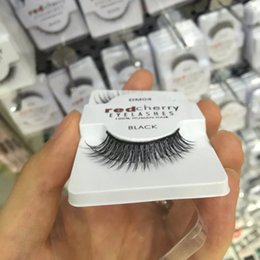 2017 cils de scène Vente en gros Red Cherry Cheveux humains Faux cils Fake Eye Lashes Long Extension Discount Professional Stage Makeup Manufactures cils de scène sur la vente