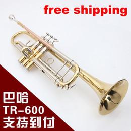 Inventario libre en Línea-Envío libre al por mayor-Libre Bach TR-600 Trompeta Bach TR-600 tipo pequeña serie de instrumentos de cobre cupronickel en la sección inventario Bb trompeta