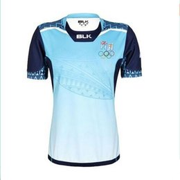 Wholesale 2016 Fiji Rugby Jersey White maillot Maglia Adults Men alternative shirts Size S XL