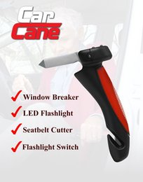Wholesale Car Cane Mobility and Standing Aid w Flashlight Belt Cutter Windows Breaker