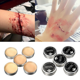 Wholesale Halloween Modeling Fake Wound Scar Eyebrow Wax Special Effect Makeup Body Paint Colors Optional