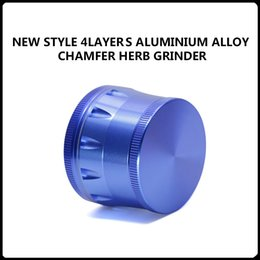 Wholesale New Arrivals Layers Aluminium Alloy Chamfer Grinders mm Herb Grinders Layers Metal Grinders VS Sharpstone Grinders